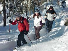 Schneeschuhwandern über Berchtesgaden